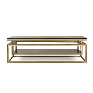 Boyd Drop Shelf Coffee Table - Smoked Glass