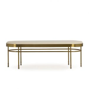 Boyd Lozenge Bench - Cloud White