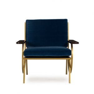 Boyd B Chair - Vana Blue Velvet