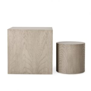 Kelly Hoppen Morgan Square Accent Table - Oak