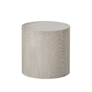 Kelly Hoppen Morgan Round Accent Table - Oak