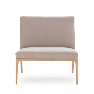 Kelly Hoppen Marley Chair - Finley Beige Leather
