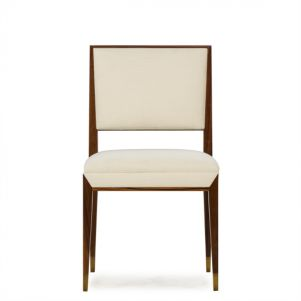 Boyd Reform Side Chair - Rosewood / Cream Fabric
