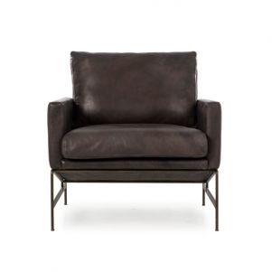 Thomas Bina Vanessa Chair - Destroyed Black Leather