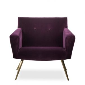 Kelly Hoppen Kelly Occasional Chair - Mohair Velvet