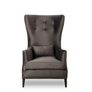 Maison 55 Justin Chair - Destroyed Black Leather