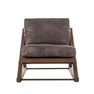 Thomas Bina Teddy Chair - Destroyed Black Leather