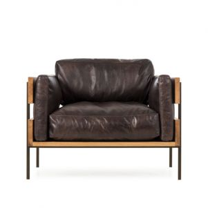 Thomas Bina Carson II Chair - Antique Espresso Leather