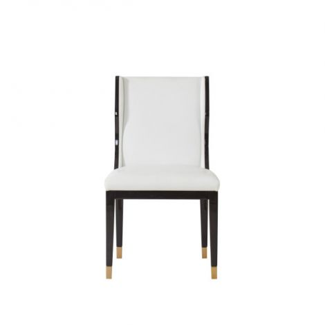 Kelly Hoppen Taylor Dining Chair - Fallon White Leather