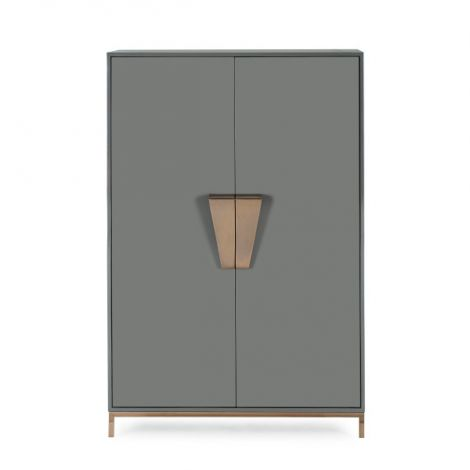 Kelly Hoppen Shield Cabinet - Dark Grey Lacquer