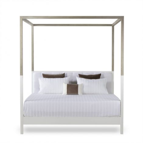 Kelly Hoppen Duke Poster King Size Bed - Warm White