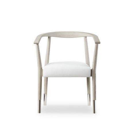 Kelly Hoppen Soho Dining Chair - Grey Oak / Fallon White Leather
