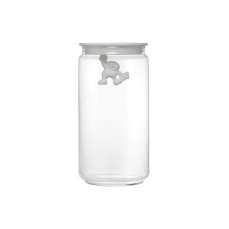 Gianni Glass Storage Jar - White - Large
