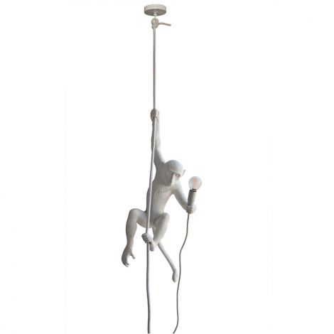 Monkey Lamp - Swinging - White