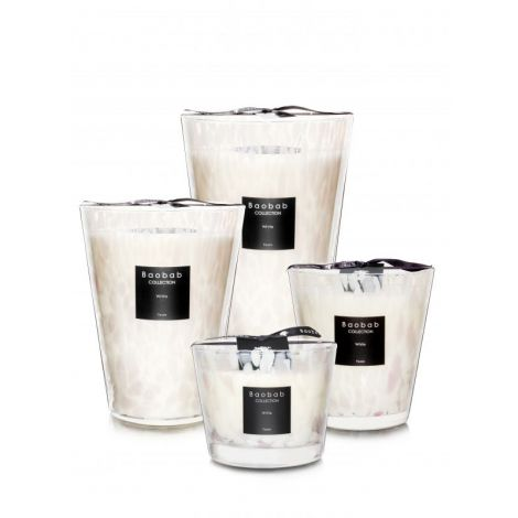 White Pearls Scented Candles